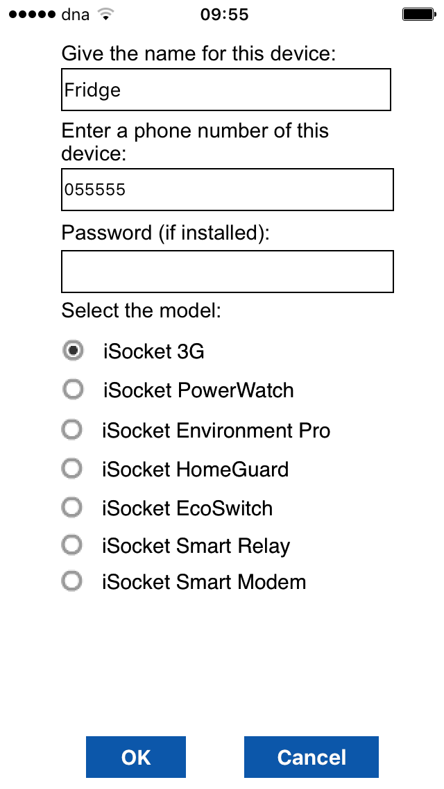 iSocket Smart Plug iPhone app configuration